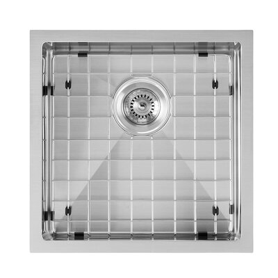 Noah Plus 18 x 18 Undermount Kitchen Sink Finish: Brushed Stainless Steel