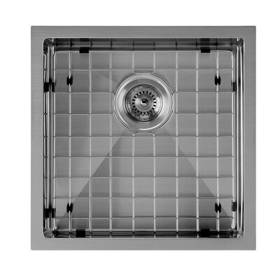 Noah Plus 18 x 18 Undermount Kitchen Sink Finish: Gunmetal