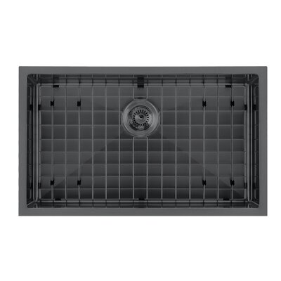 Noah Plus 29 x 18 Undermount Kitchen Sink Finish: Matte Black