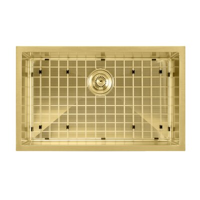 Noah Plus 29 x 18 Undermount Kitchen Sink Finish: Brass