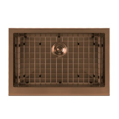 Noah Plus 30 x 20 Undermount Kitchen Sink Finish: Copper