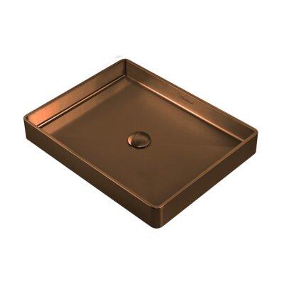 Noah Plus Metal Rectangular Vessel Bathroom Sink Sink Finish: Copper