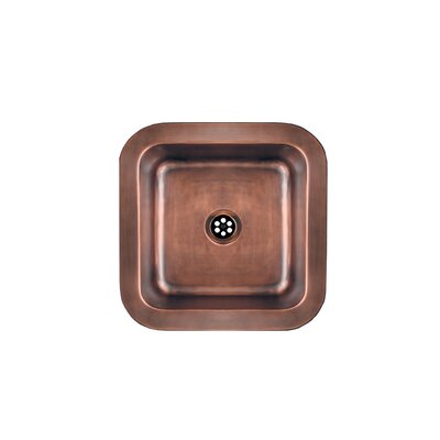 Copperhaus 15 x 15 Square Drop-In / Undermount Bar Sink