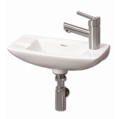 Isabella Ceramic 18 Wall Mount Bathroom Sink Faucet Mount: Right Hand