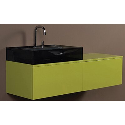 "Aeri 43"" Vetro Wall Mount Bathroom Vanity Top Finish: Green"