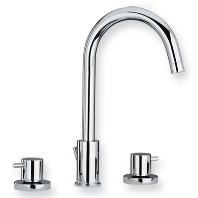 Luxe Widespread Bathroom Faucet with Double Handles Finish: Polished Chrome