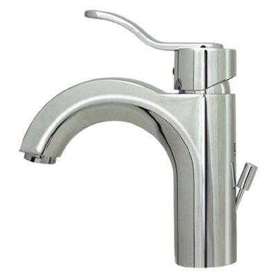 Wavehaus Single Hole Bathroom Faucet with Single Handle Finish: Polished Chrome