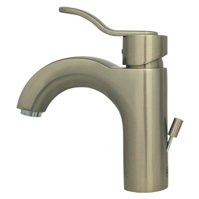 Wavehaus Single Hole Bathroom Faucet with Single Handle Finish: Brushed Nickel