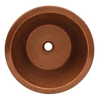 Copperhaus Circular Vessel Bathroom Sink Sink Finish: Hammered Copper