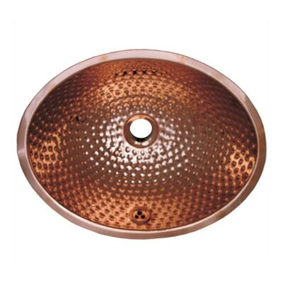 Decorative Oval Undermount Bathroom Sink with Overflow Sink Finish: Polished Copper