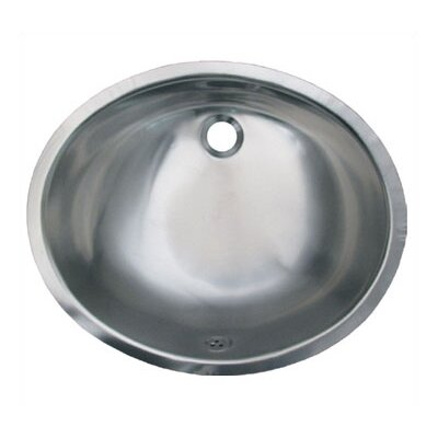 Decorative Oval Undermount Bathroom Sink with Overflow Sink Finish: Polished Stainless Steel