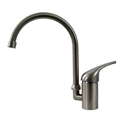 Flamingo II One Handle Single Hole Kitchen Faucet with Gooseneck Swivel Spout Finish: Brushed Nickel