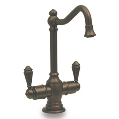 """Whitehaus Collection Forever Hot 5.5"""" Two Handle Single Hole Instant Hot and Cold Water Dispenser Faucet - Finish: Pewter at Sears.com"""