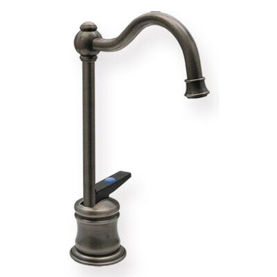 Forever Hot 6.625 One Handle Single Hole Cold Water Dispenser Faucet with Traditional Spout Finish: Pewter