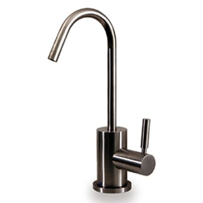 "Whitehaus Collection Forever Hot 6.875"" One Handle Single Hole Hot Water Dispenser Kitchen Faucet with Gooseneck Spout - Finish: Polished Chrome at Sears.com"