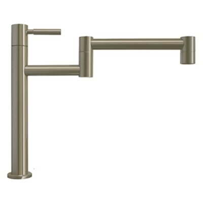 Decohaus Deck Mount One Handle Single Hole Deck Mount Pot Filler Faucet Finish: Brushed Nickel
