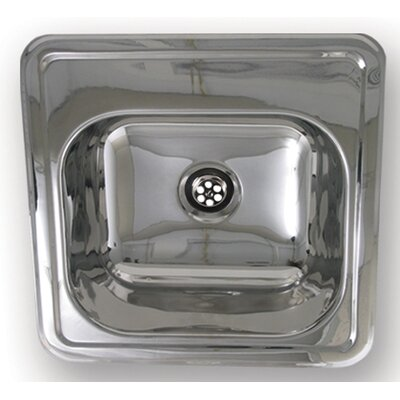 Entertainment 15 x 15 Prep Square Drop in Kitchen Sink Finish: Polished Stainless Steel