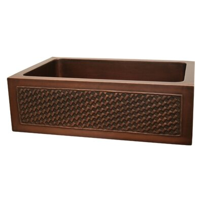 Copperhaus 30 x 20 Rectangular Undermount Kitchen Sink Finish: Smooth Bronze