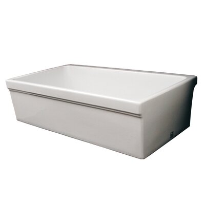 FarmhausQuatro 30 x 20 Single Bowl Farmhouse Kitchen Sink Finish: Biscuit