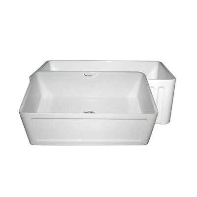Farmhaus 30 x 18 Single Bowl Farmhouse Kitchen Sink Finish: White