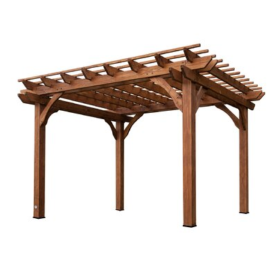 Cedar 12 Ft. W X 10 Ft. D Solid Wood Pergola