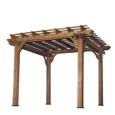 Cedar 10 Ft. W X 10 Ft. D Solid Wood Pergola
