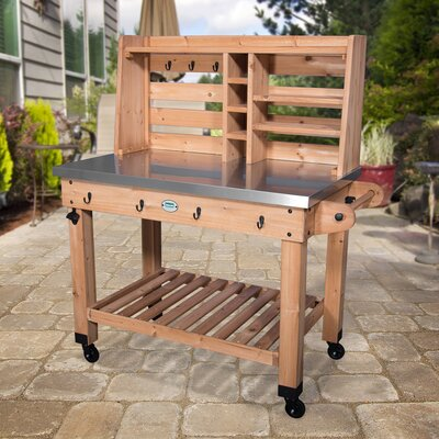 All Cedar Bar Serving Cart