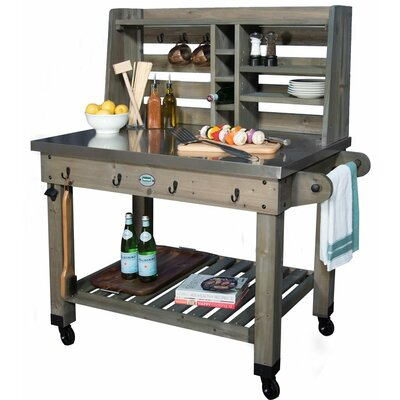 Barnwood Bar Serving Cart