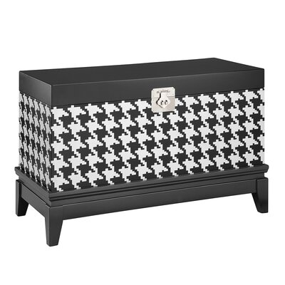 Houndstooth Storage Chest Finish: Black