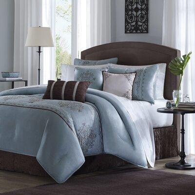 Madison Park Brussel 7 Piece Comforter Set in Blue | Wayfair