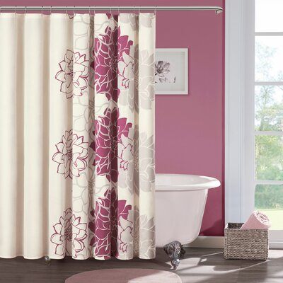 Buy Low Price Madison Park Lola Shower Curtain Color Gray Fuschia Shower Curtain Mall