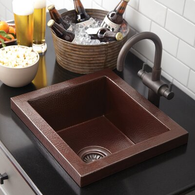 17 x 15 Manhattan Copper Bar Sink Finish: Antique Copper