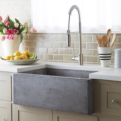 Farmhouse 30 x 18 Stone Kitchen Sink Finish: Ash