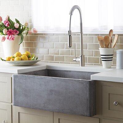 30 x 18 Farmhouse Kitchen Sink Finish: Ash