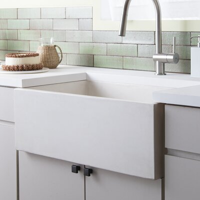 Farmhouse 30 x 18 Stone Kitchen Sink Finish: Pearl