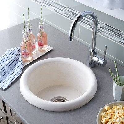 Pozo 16 x 16 Stone Bar & Prep Kitchen Sink Finish: Pearl