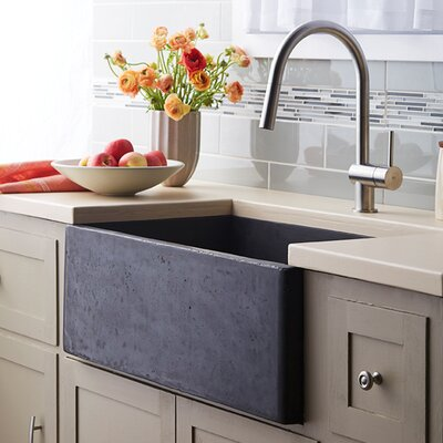 Farmhouse 30 x 18 Stone Kitchen Sink Finish: Slate