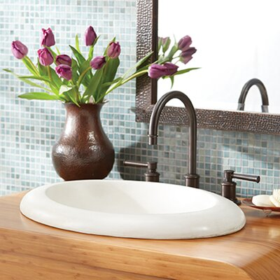 Cuyama Stone Oval Drop-In Bathroom Sink
