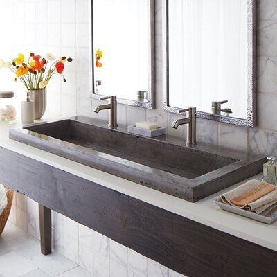 Trough Stone 48 Trough Bathroom Sink Sink Finish: Ash