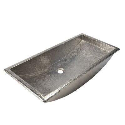 Trough Metal Rectangular Undermount Bathroom Sink