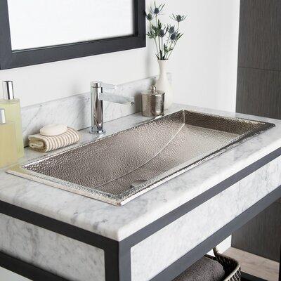 Trough Metal Rectangular Drop-In Bathroom Sink Finish: Brushed Nickel