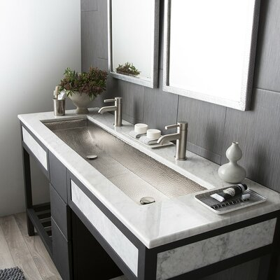 Trough Rectangular Undermount Bathroom Sink