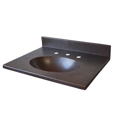 Sedona 22 Single Bathroom Vanity Top Top Finish: Antique Copper