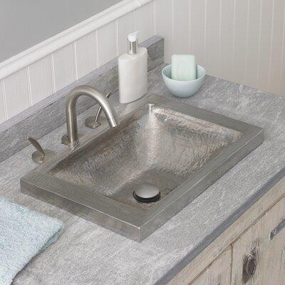 Hana Metal Rectangular Drop-In Bathroom Sink