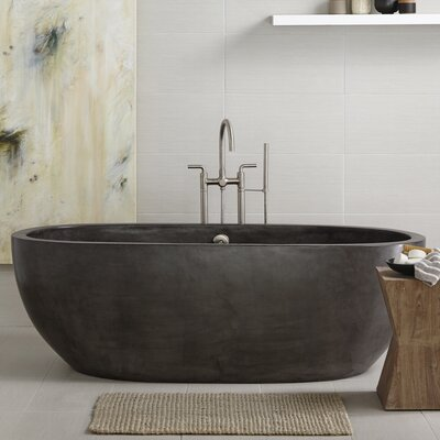 Avalon 72 x 36 Freestanding Soaking Bathtub Color: Slate