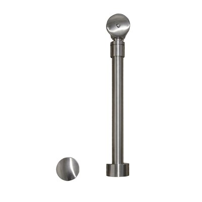 1.5 Pop-Up Tub Drain With Overflow Finish: Brushed Nickel