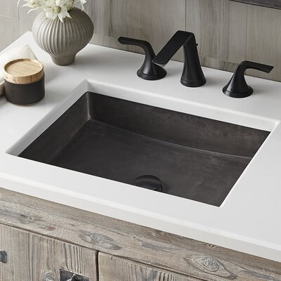 Nipomo Stone Rectangular Undermount Bathroom Sink Sink Finish: Slate
