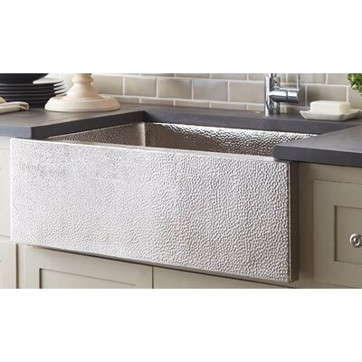 Pinnacle 33 x 22 Copper Kitchen Sink Finish: Brushed Nickel
