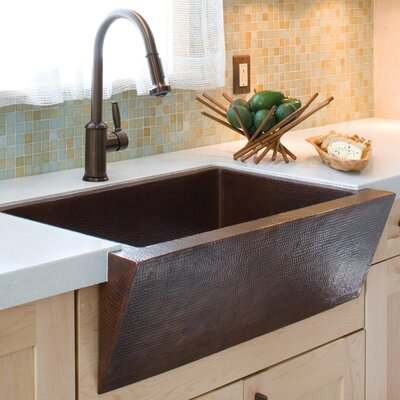 Zuma 33 x 22 Copper Kitchen Sink Finish: Antique Copper