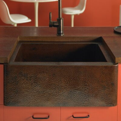 Farmhouse 25 x 19 Copper Kitchen Sink Finish: Antique Copper